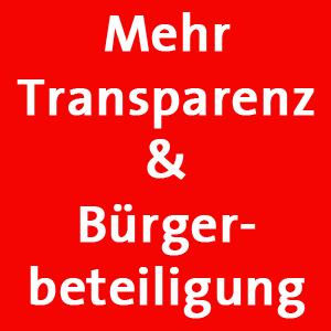"""Interfraktioneller Antrag zum Thema """"Transparenz & Bürgerbeteiligung"""""""
