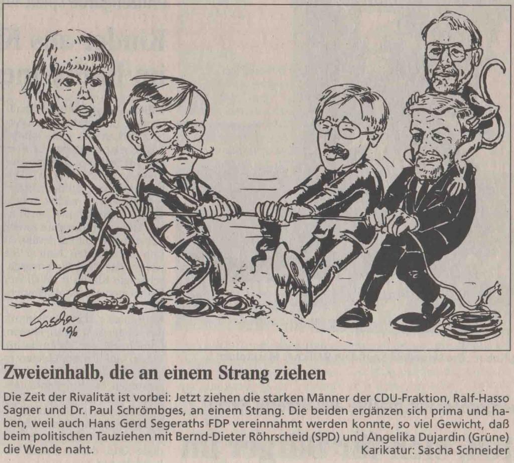 Karikatur_Zweieinhalb_die_an_einem_Strang_ziehen_ 1996