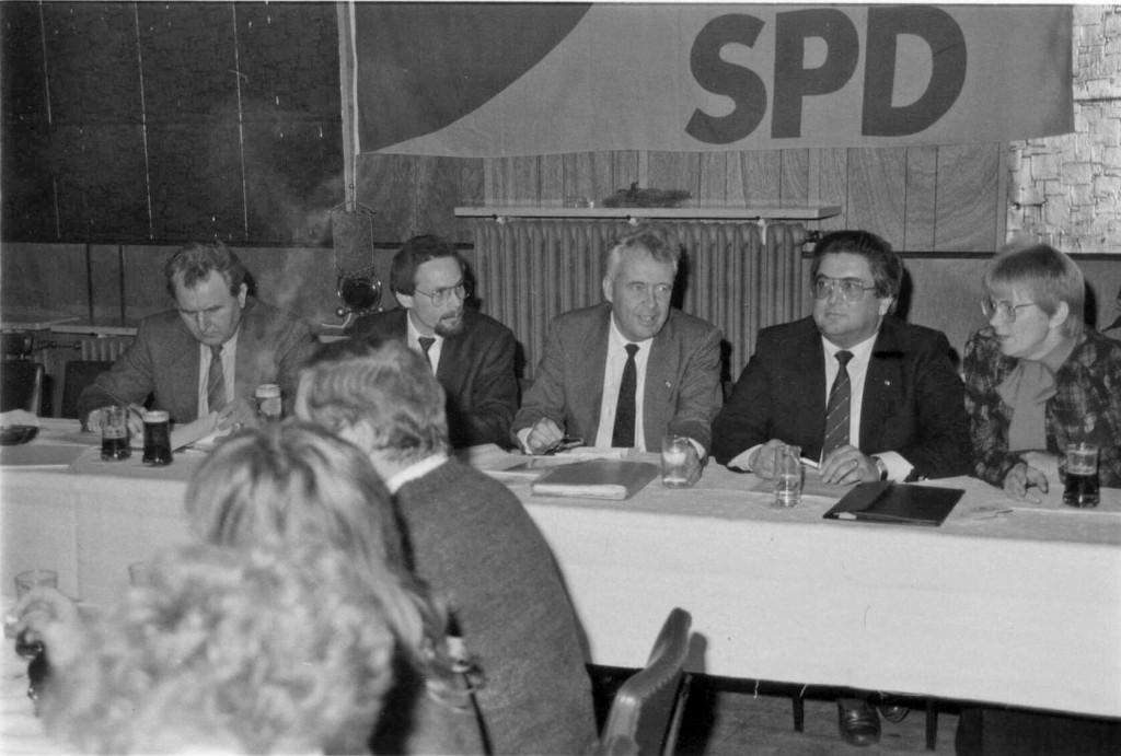 Podiumsdiskussion mit Hans Apel 1986