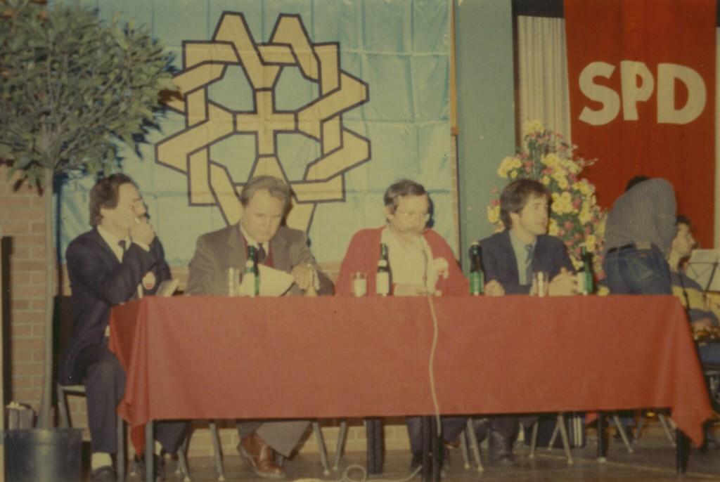 Podiumsdiskussion mit Jo Leinen 1987