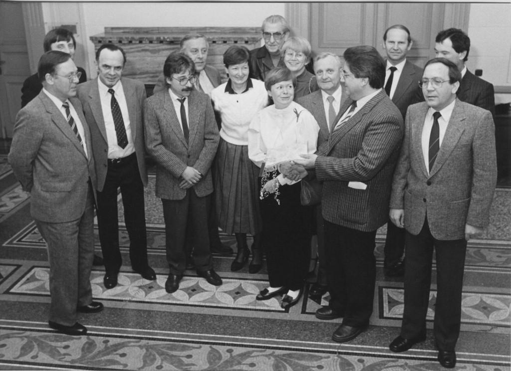 Verabschiedung von Ratsmitgliedern 1984